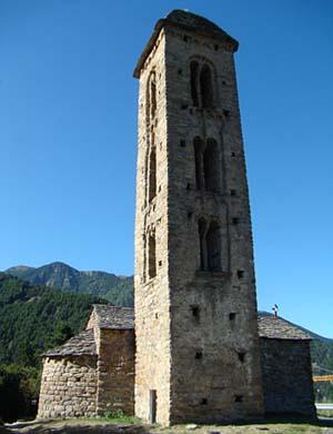 L'Église de Sant Miquel d'Engolasters, Escaldes-Engordany, Andorre