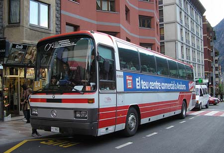 Urban bus in Andorra